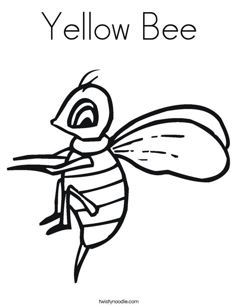 coloring page of yellow yellow bee coloring page twisty noodle