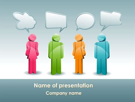 Speech Bubbles Powerpoint Template Backgrounds 08198 Poweredtemplate Com Speech Powerpoint Template