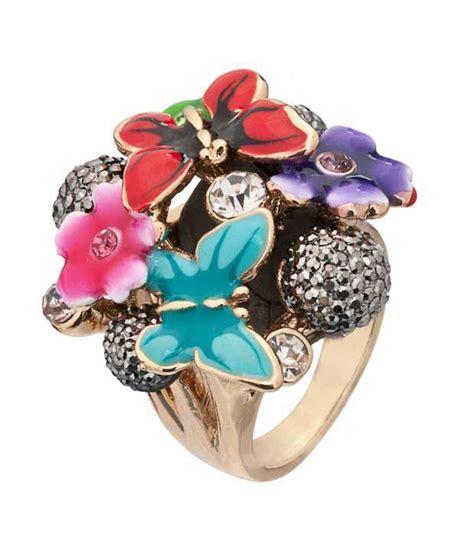 Rhinestone Studded Ring pari multi coloured rhinestone studded ring buy pari