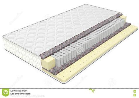 matratze graphene deluxe 3d orthopedic mattress section stock illustration