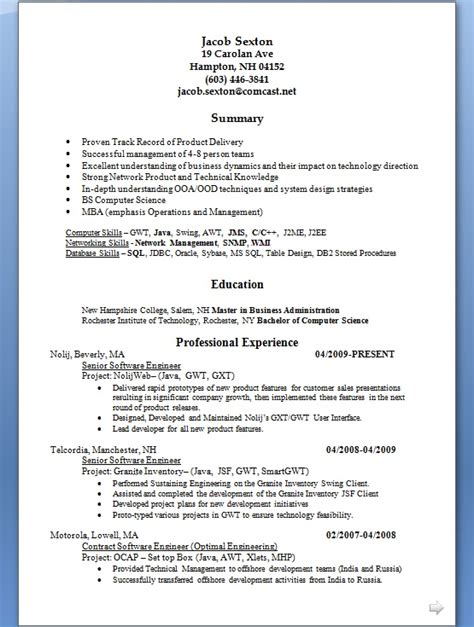 how to send your resume in word format how to write a resume for a software engineer in word format free