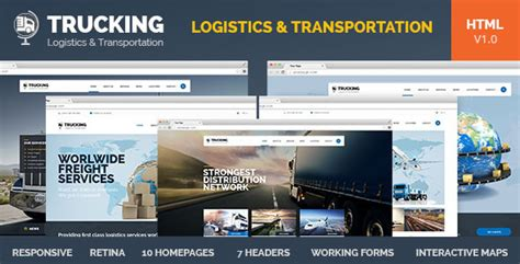 Trucking V1 0 Transportation Logistics Html Template Free Download Free After Effects Free Trucking Website Templates