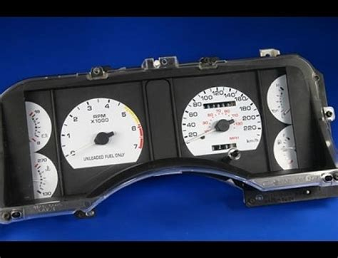 manual repair autos 1997 ford mustang instrument cluster 1990 1993 ford mustang 220 kmh metric dash cluster white face gauges ebay