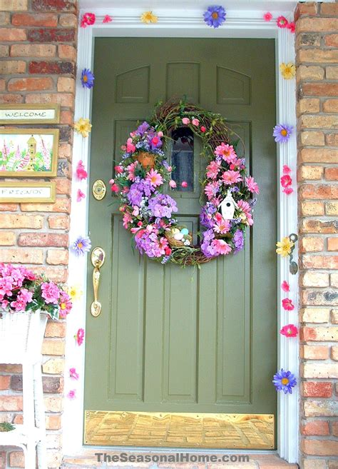 door decorations for spring spring and easter outdoor door decoration 171 the seasonal