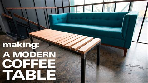 making  modern coffee table youtube