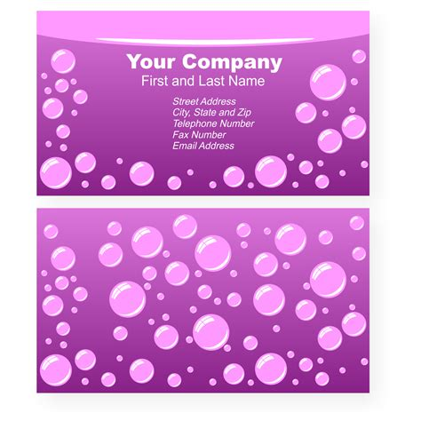 polka dot business card template pictures of polka dot business card templates free