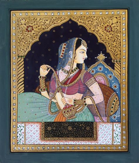 Handmade Wall Hangings Indian - tanjore rajasthani rani handmade indian thanjavur wall