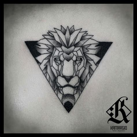 geometric animal tattoo lion lion geometric animal geometry main pinterest
