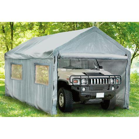 10x20 instant garage silver 143944 garage car