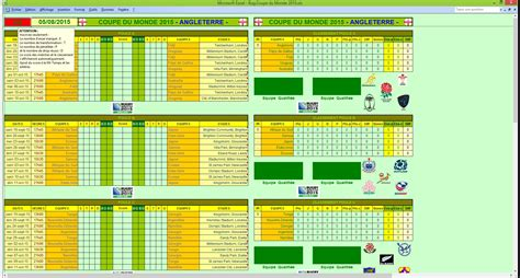 Calendrier H Cup 2016 Footbuts Rug Coupe Du Monde 2015