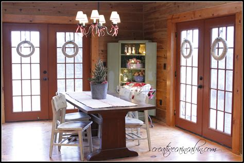 christmas dining room in a rustic log home creative cain