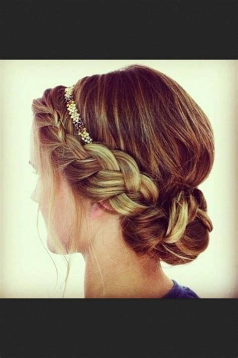braided hairstyles with side bun low braided bun inches pinterest buns wedding and