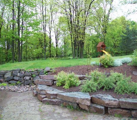 nature s way landscaping limestone garden walls howe island nature s way