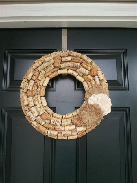wine cork wreath with burlap flower crafts and diy the o jays and burlap