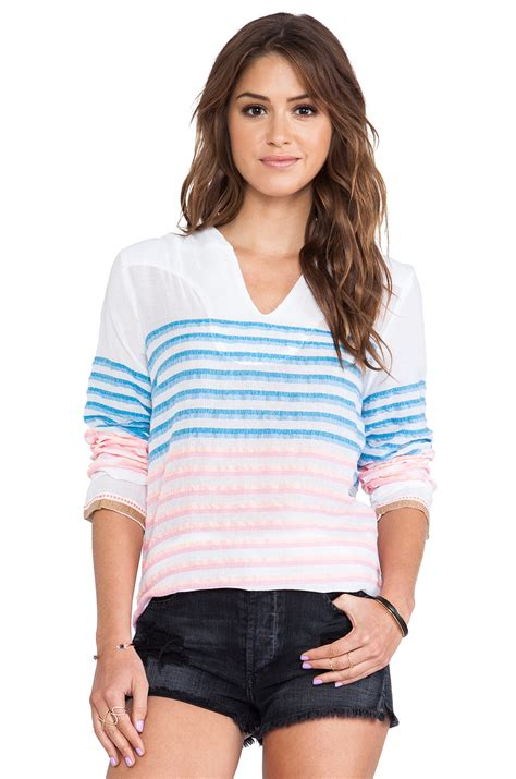 surf hooded striped sweater in white lyst