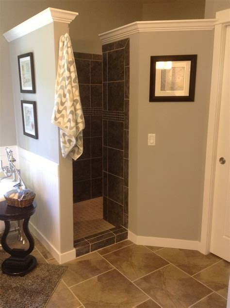 walk in shower with curtain i love this idea walk in shower great way to keep air
