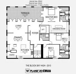 Apartment Floorplan the block sky high 2013 floorplan planit2d