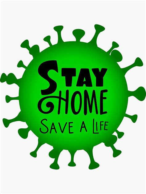 stay home save  life sticker  nabil  redbubble