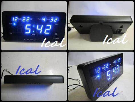 Jam Dinding Meja Led Digital Cx 2159 215x10 Cm Led Merah jam dinding digital led tipe 2158 biru ical store ical store