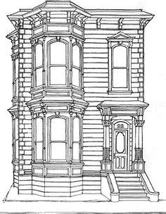 row house coloring pages brooklyn historic brownstone pen and ink drawing