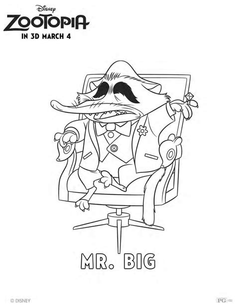 Free Disney Zootopia Mr. Big Coloring Page | Mama Likes This