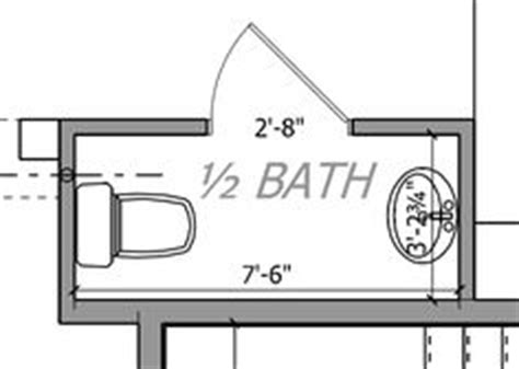 Small Half Bathroom Floor Plans 3ft X 4ft Half Bath Or Guest Bath Layout Bathroom