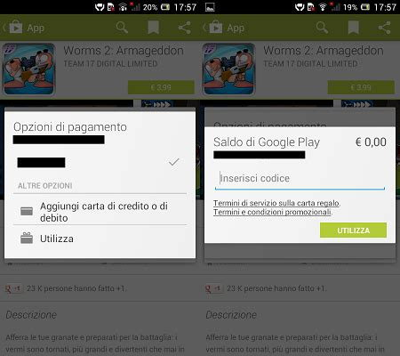 Play Store Gift Card - gift card utilizzabili anche tramite il play store per android tutto android