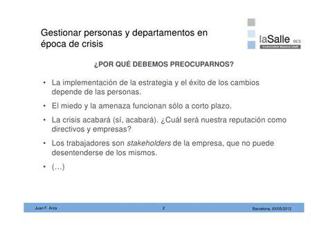 Mba De La Salle by Gestionar Personas En 233 Poca De Crisis Open Class De Juan