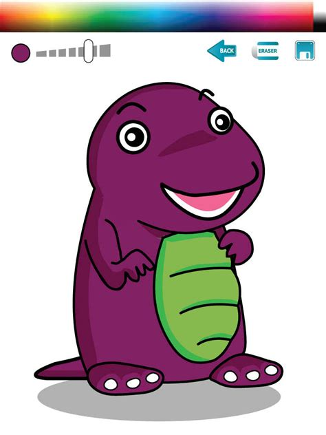 barney painting free coloring for friends painting barney version review