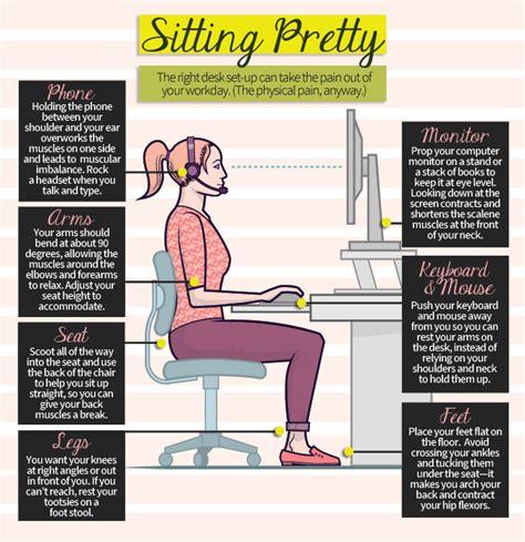 best way to sit at desk computer desk ergonomics cst t
