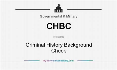 How Does A Government Background Check Take Chbc Criminal History Background Check In Government