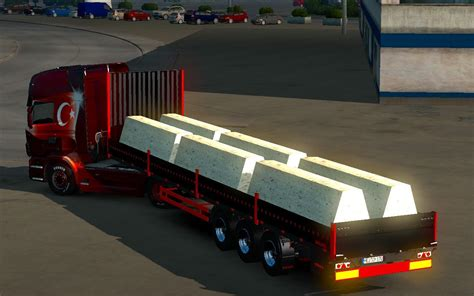 blocky roads full version 1 2 2 ets2 road block trailer 1 24 simulator modification site