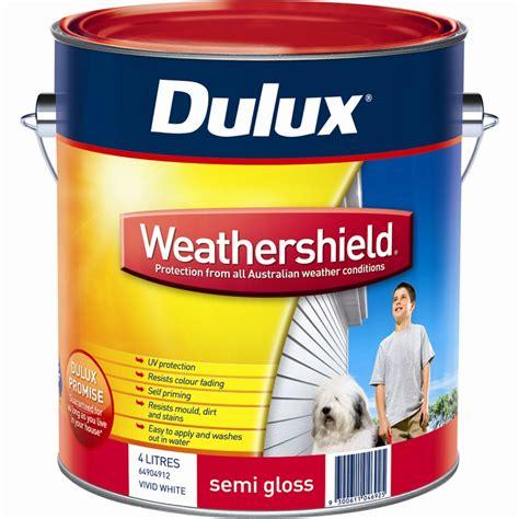 dulux weathershield 4l semi gloss white exterior paint - Dulux Weathershield Exterior Gloss Paint