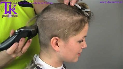 woman cuts hair with fork and clippers i love to go ultra short clipper haircut of jacky by theo