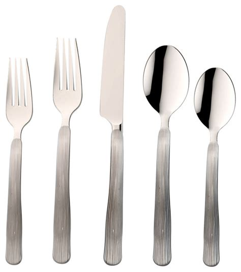 bark flatware set contemporary flatware and silverware skandia birch mirror 18 0 20 piece set flatware and