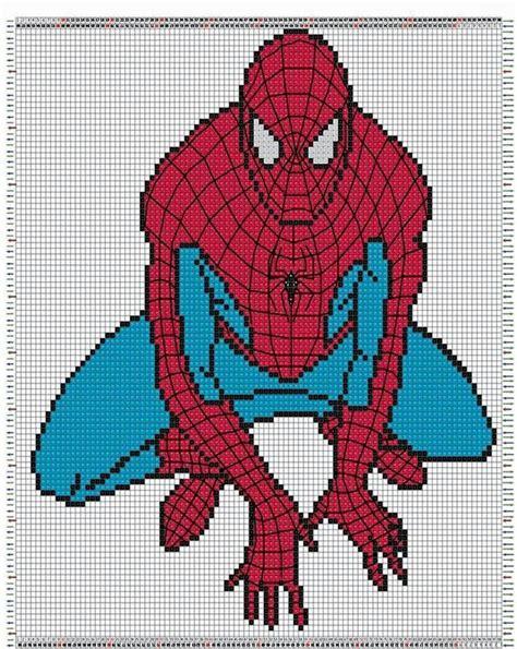 spiderman hair pattern spiderman graph knit crochet graphgan pixel ideas