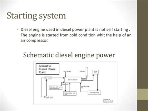 diesel power plant layout and working ppt diesel engine power plant