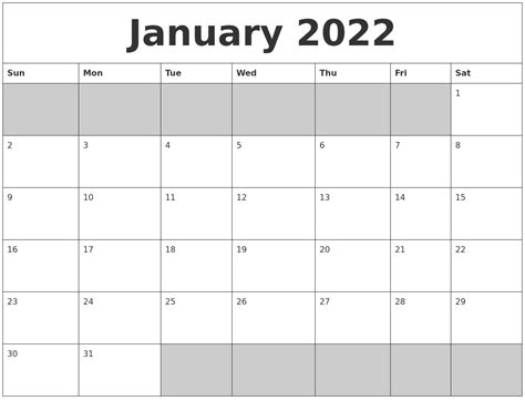 blank calendar template january january 2022 blank printable calendar