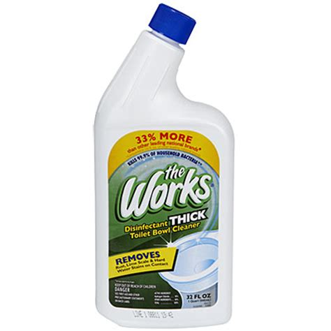 works bathroom cleaner view the works 174 thick disinfectant toilet bowl cleaner