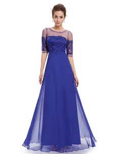 high neck royal blue illusion bridesmaid dresses with