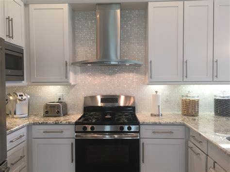 white pearl backsplash white 1 quot x 1 quot pearl shell tile high end kitchen backsplash