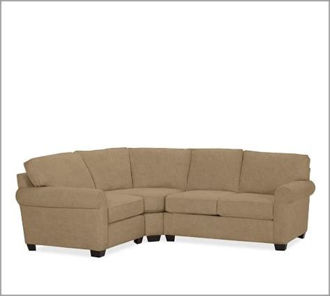 sectional with wedge buchanan roll arm upholstered curved 3 piece sectional