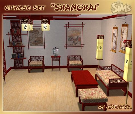 Kebaya Set Shanghai 02 mod the sims set quot shanghai quot living room