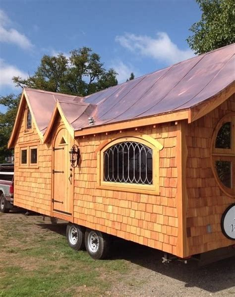 little house on wheels a little over the top artsy tiny house pineafore tiny