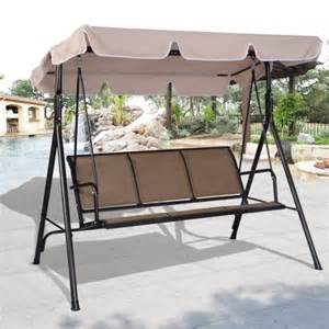 swing awning costway 3 person outdoor patio swing canopy awning yard