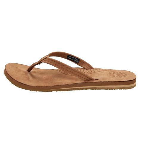 flip flop sandals ugg australia chestnut flip flop sandal womens ebay