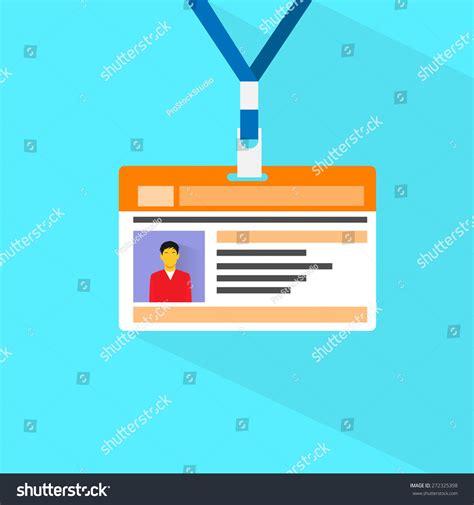 id card flat design id card profile data photo flat stock vector 272325398