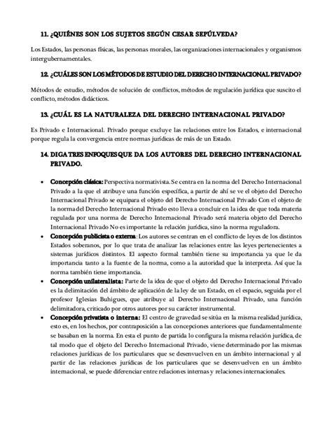 derecho internacional privado cuestionario derecho internacional privado i