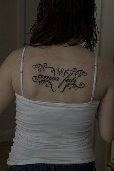 amor fati tattoo fati spine