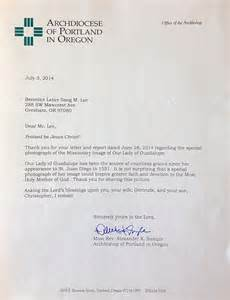 letter from archbishop sle
